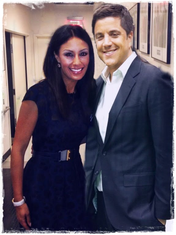 Liz Cho with cool, Fiancé Josh Elliott