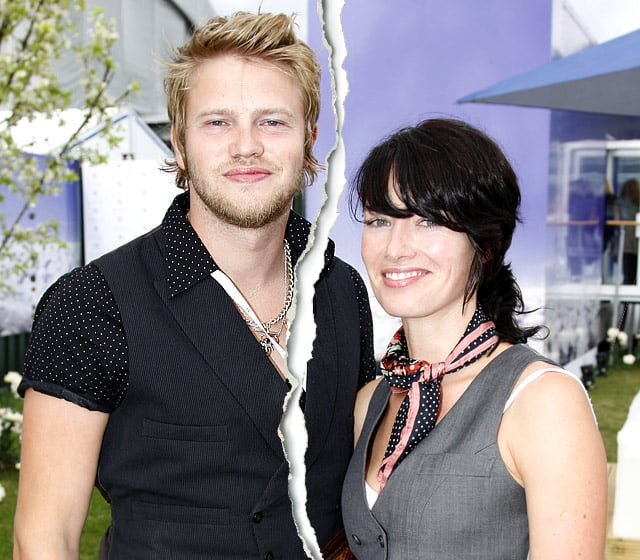 Former husband and wife: Peter Paul Loughran and Lena Headey