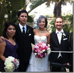 Nick Vujicic and Kanae Miyahara wedding photos