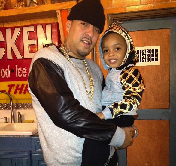 Photo of French Montana & his  Son  Kruz Kharbouch