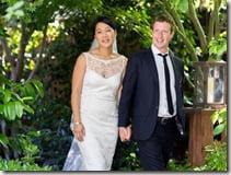 Mark Zuckerberg Priscilla Chan wedding photo