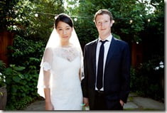 Mark Zuckerberg Priscilla Chan wedding photos