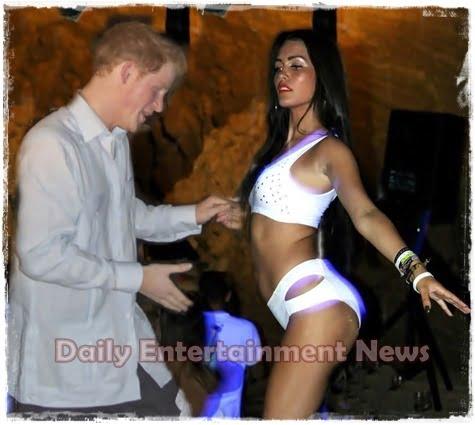 Paige Collins – Prince Harry Go-Go Dancer in Nightclub