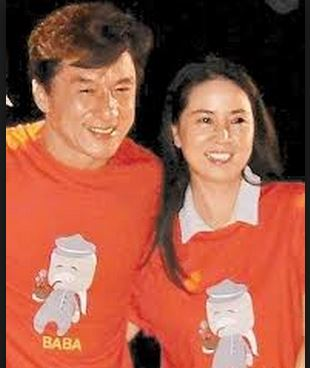 Jackie Chan and wife Lin-Feng-jiao-2