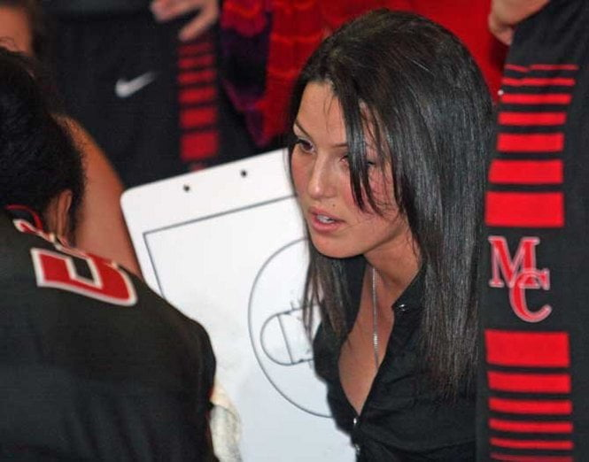 Megan Mahoney Moore Catholic basketball coach-picture