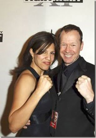 Kimberly Fey with her husband Donnie Wahlberg