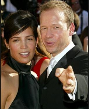 Image: Kimberly Fey with Donnie Wahlberg, her ex-husband  Source: daily entertainment