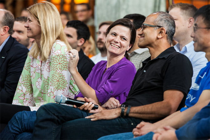 Satya Nadella with beautiful, Wife Anupama