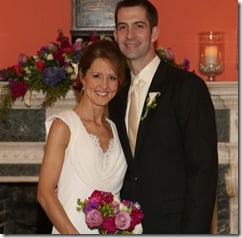 Tom Cotton Anna Peckham wedding pics