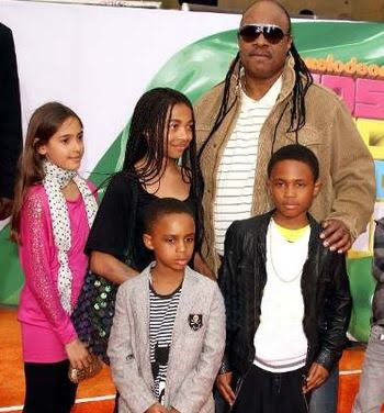 Photo of Stevie Wonder & his  Daughter  Keita Morris