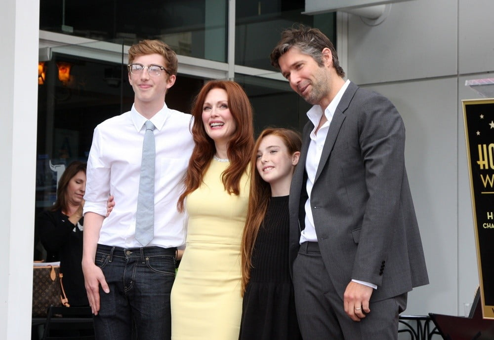 Julianne Moore with her Family; husband and children