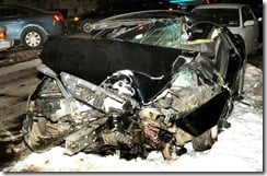 Bob Simon Car crash picture