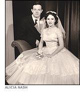 John Nash Alicia Nash wedding