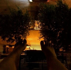 Kasey Jones rooftop fire escape
