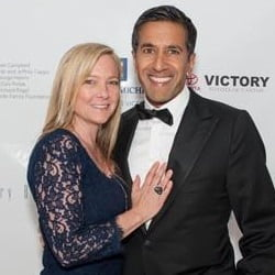 Sanjay Gupta Wife,Rebecca Olson Gupta