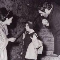 Faten Hamana and son Tarek Al-Sharif