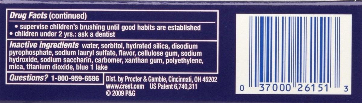Crest white strip ingredients