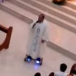Fr. Albert San Jose is the Hoverboard Priest!
