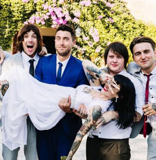 On the wedding day of Oliver Sykes and Hannah Pixie in 2015