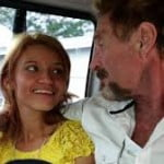 John McAfee Samantha Vanegas photo