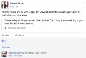 Selina Akim Facebook pic