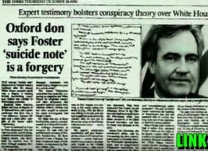 Vince Foster suicide note