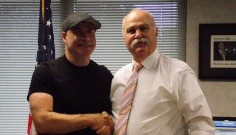 Richard K. Jones Ohio Sheriff Kissed by John Travolta