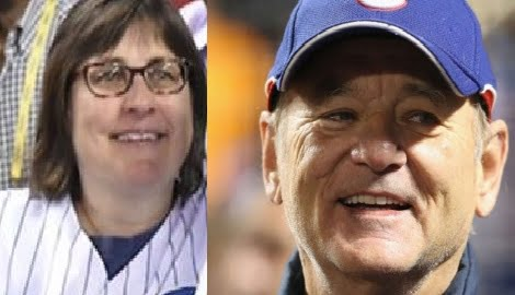 Karen Michel lucky Cubs fan gets ticket next to Bill Murray!