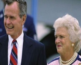 George Bush: Wife Barbara & Children