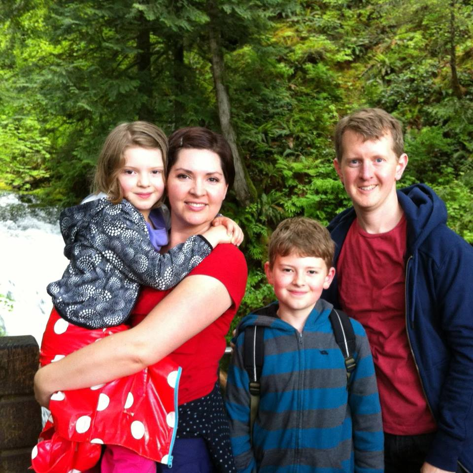 Ken Jennings with family