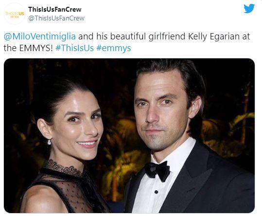 Kelly Egarian,Milo Ventimiglia girlfriend