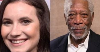 Ashley Crossan ET Host in Morgan Freeman Interview
