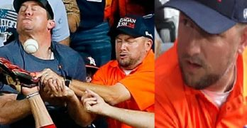 Troy Caldwell Interfering Astros Fan