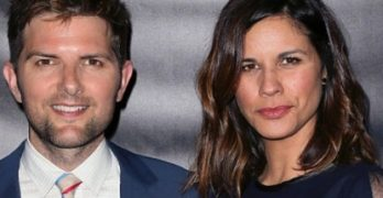 adam scott wife,naomi scott husband,Naomi Sablan